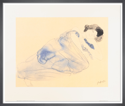 Femme vetue allongee sur le flanc by Auguste Rodin