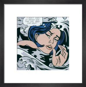 Drowning Girl by Roy Lichtenstein