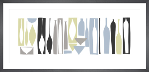 Silhouette - Porcelain (serigraph) by Denise Duplock