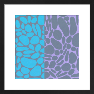Pebble Stones (serigraph) by Denise Duplock
