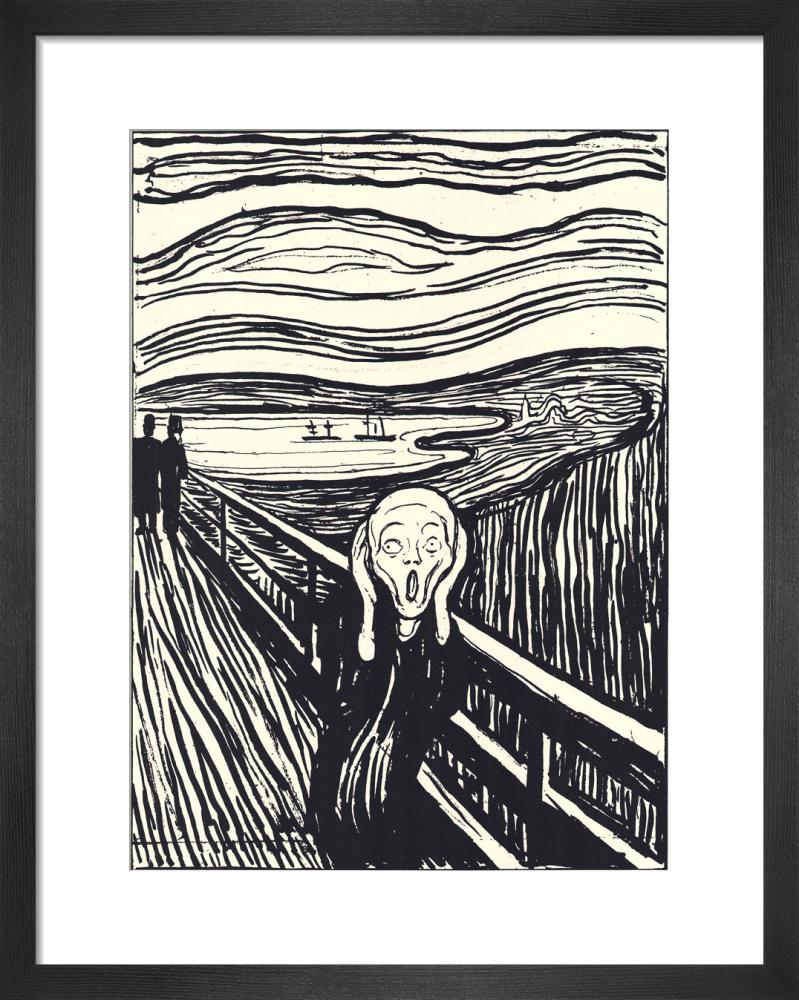 The Scream (silkscreen print) by Edvard Munch
