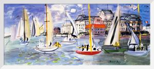 Regates dans le Port de Trouville by Raoul Dufy