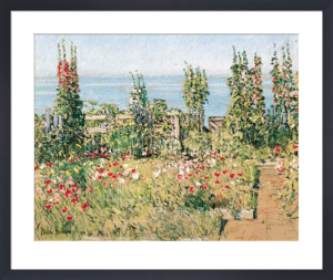 Hollyhocks, Isle of Shoals by Frederick Childe Hassam