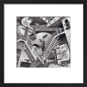 Relativity by M.C. Escher