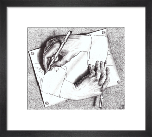 Drawing Hands by M.C. Escher
