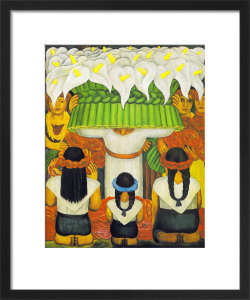 Flower Festival: Feast of Santa Anita, 1931 by Diego Rivera
