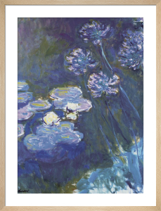Water Lilies & Agapanthus, 1914-1917 by Claude Monet