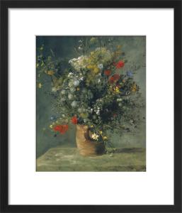 Flowers in a Vase, c. 1866 by Pierre Auguste Renoir