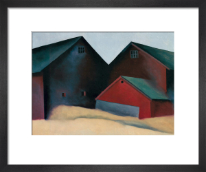 Ends of Barns, 1922 by Georgia O'Keeffe