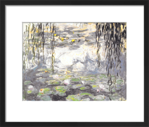 Water Lilies & Willow Branches by Claude Monet