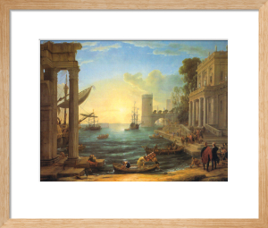 Seaport with Embarkation of the Queen of Sheba by Claude Lorraine