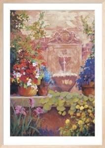Patio Fountain by Carolyne Hawley