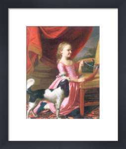 Young Lady with a Bird and Dog, 1767 by Copley