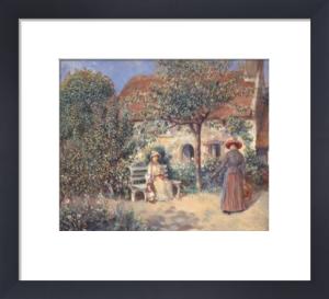 Garden Scene in Brittany, c. 1886 by Pierre Auguste Renoir