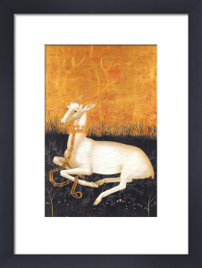 The Wilton Diptych (verso): White Hart by English/French School