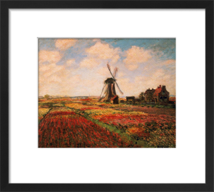 Tulip Fields with Windmill by Claude Monet