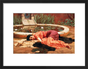 Dolce far niente (A Pompeian Fishpond), 1904 by John William Godward