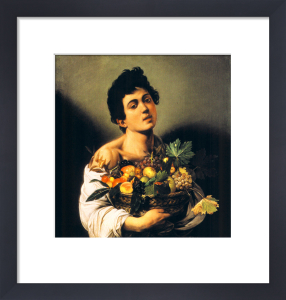 Boy with a Basket of Fruit by Michelangelo Merisi da Caravaggio