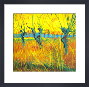 Pollarded Willow and Sunset by Vincent Van Gogh