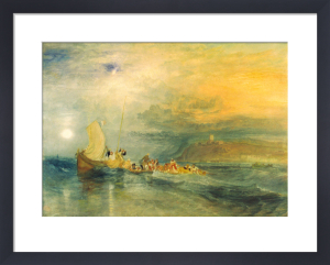 Folkstone from the Sea by Joseph Mallord William Turner