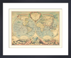 World Map (18th Century) by Bourgoin