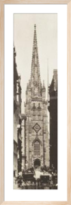 Wall Street showing Trinity Church by J. Johnson