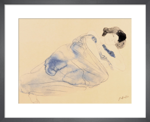 Femme vetue allongee sur flanc (small) by Auguste Rodin