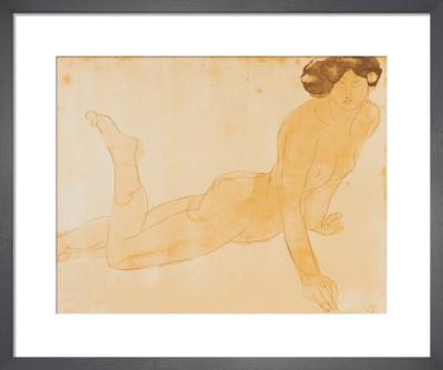 Femme nue allongee sur le ventre (small) by Auguste Rodin