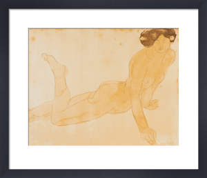 Femme nue allongee sur le ventre (small) by Auguste Rodin
