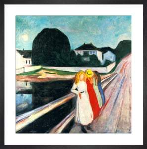 Four Girls on a Bridge by Edvard Munch
