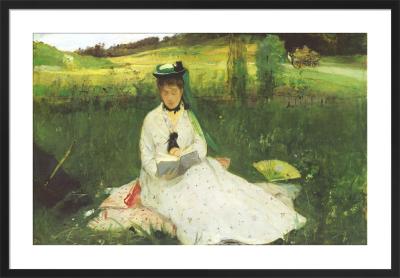 Reading (La lecture), 1873 by Berthe Morisot
