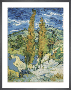 The Poplars at Saint-Rémy, 1889 by Vincent Van Gogh