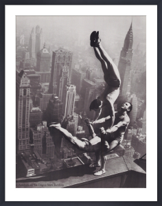 Acrobats on the Empire State Building by Artist Not Specified