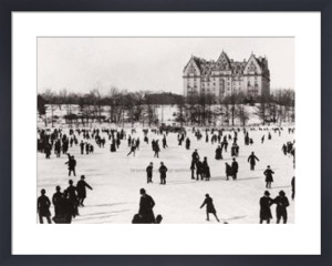 Skating in Central Park, ca. 1890 by J.S. Johnston