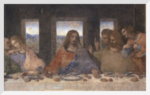The Last Supper, 1498 (post-restoration) (detail) by Leonardo da Vinci