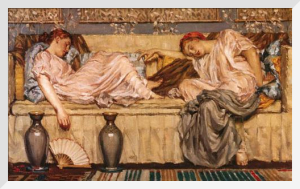 Two Women on a Sofa by Albert Moore