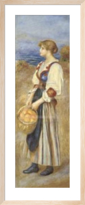 Girl with a Basket of Oranges by Pierre Auguste Renoir