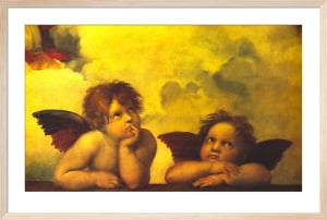 Cherubs (detail from Sistine Madonna) by Raphael