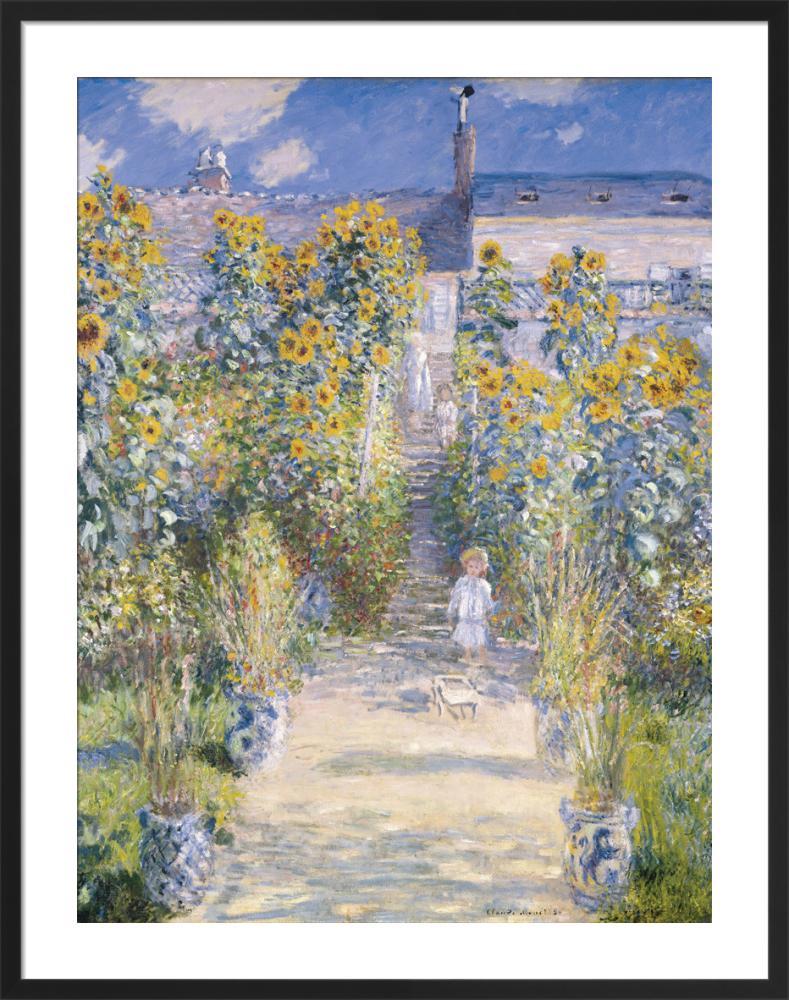 The Artistu0027s Garden At Vetheuil, 1880