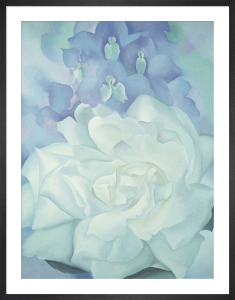 White Rose with Larkspur No. 2, 1927 by Georgia O'Keeffe
