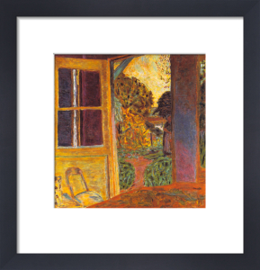 Door Open onto the Garden by Pierre Bonnard