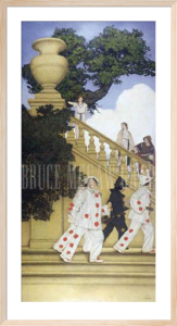 Florentine Fete - A Stairway to Summer, 1912 by Maxfield Parrish