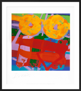 Battersea III, 2001 (signed silkscreen) by Albert Irvin