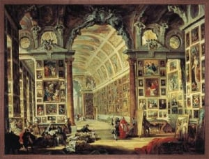 Gallery of Cardinal Valenti by Giovanni Paolo Panini
