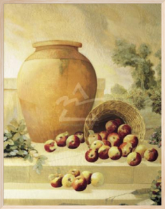 Urn with Apples by Hampton Hall