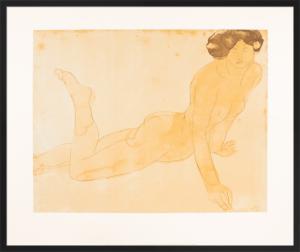 Femme nue allongee sur le ventre by Auguste Rodin