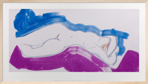 White Nude Blue and Pink by Ivon Hitchens
