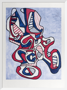 Ciseaux V (Scissor V), 1967 (serigraph) by Jean Dubuffet