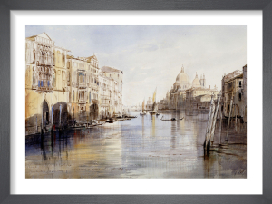 The Grand Canal with Santa Maria Della Salute, Venice, Italy, 1865 by Edward Lear