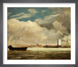 On the Thames near Battersea Bridge, c.1816 by John Constable